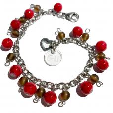 Berlockarmband Rött