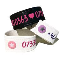 Armband med telefonnummer/namn