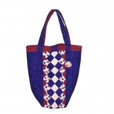 Handväska Blå Röd